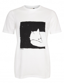 Fox in a box Organic Men Shirt _ black/white / ILK01