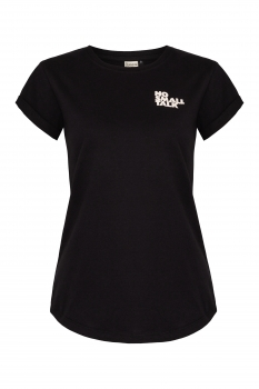 no small talk Organic Women Shirt _ black / ILK02