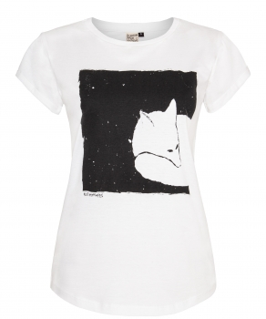 Fox in a box Organic Women Shirt _ black/white / ILK02