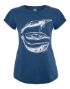 Three Whales Organic Women Shirt _ white/saragossa blue/ ILK02