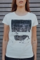 Preview: Halfbird Wal Women T-Shirt aus Biobaumwolle ILP05 - off white
