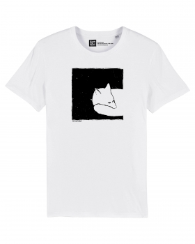 Fox in a box Herren T-Shirt white on ST