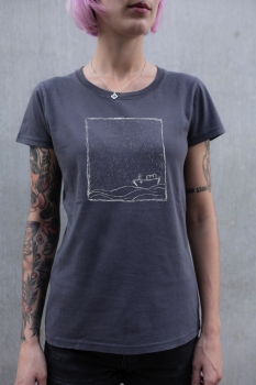 Rough Sea Women T-Shirt aus Biobaumwolle ILP05 - washed dark grey