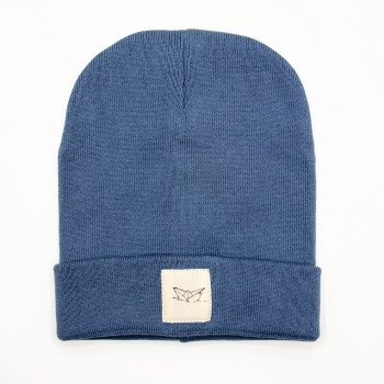 Paperboat Beanie Biobaumwolle / Made in EU washed denim