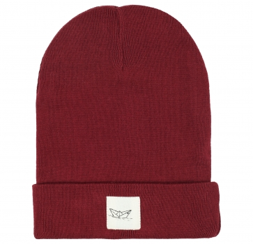 Paperboat Beanie Biobaumwolle / Made in EU dark red