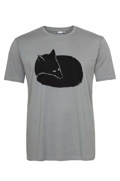 Fuchs Men T-Shirt aus Biobaumwolle ILP06 - sleet grey