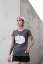 Fuchs Women T-Shirt aus Biobaumwolle ILP05 - washed dark grey
